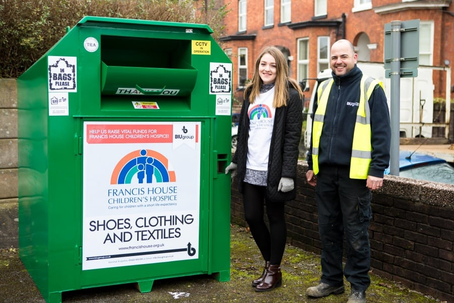 Clothing recycling bank in Altrincham