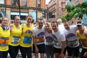 Team at the Great Manchester Run