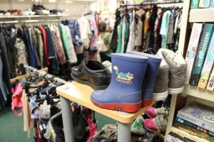 Charity shop clothing and footware
