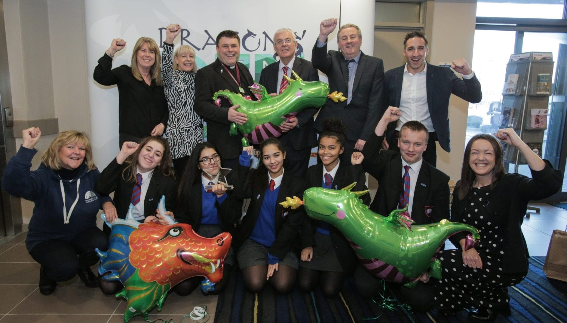 St Anthony's Winning Team Dragons Den