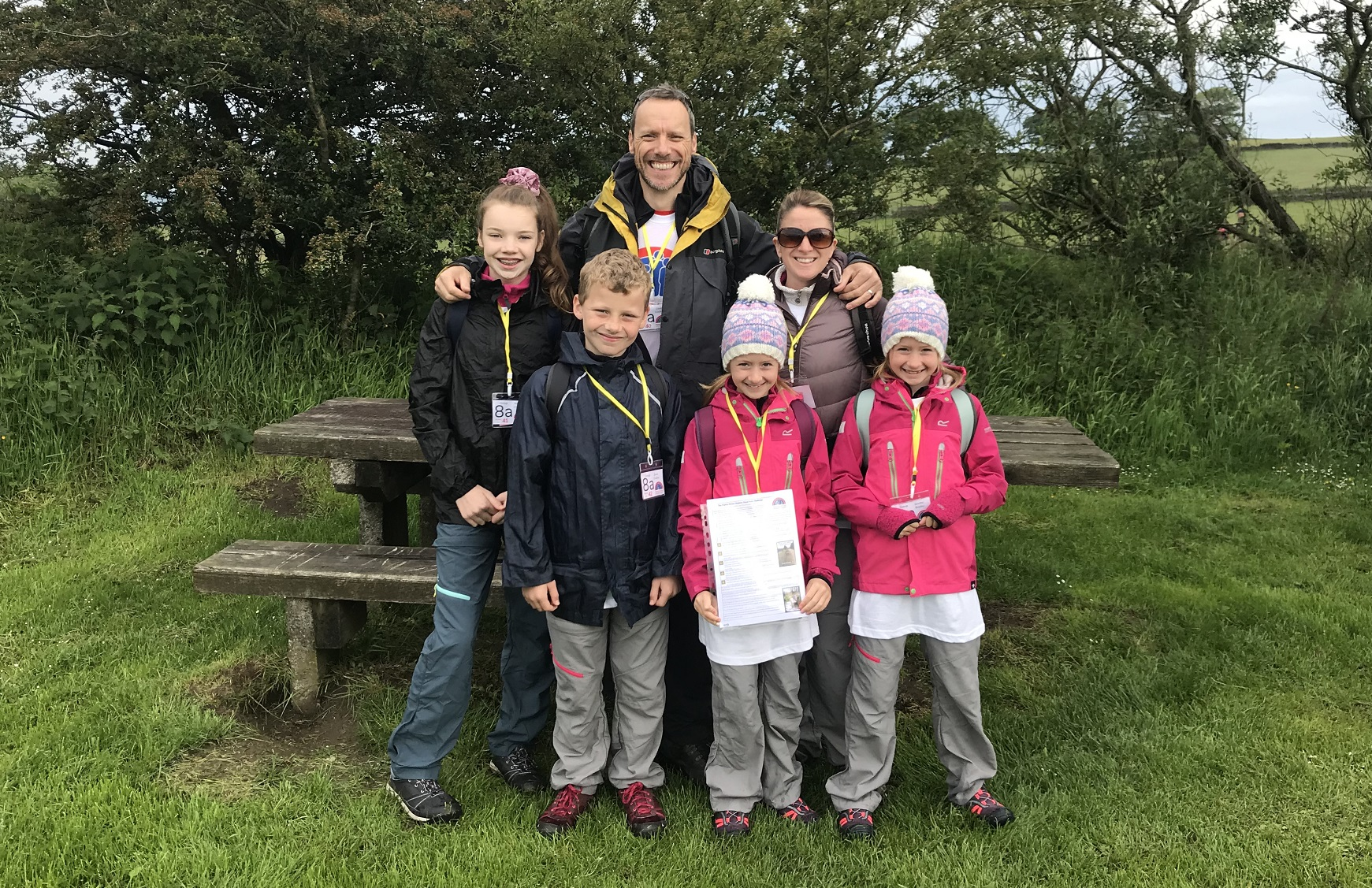 David Crookes and family line up for Cheshire Three Peaks
