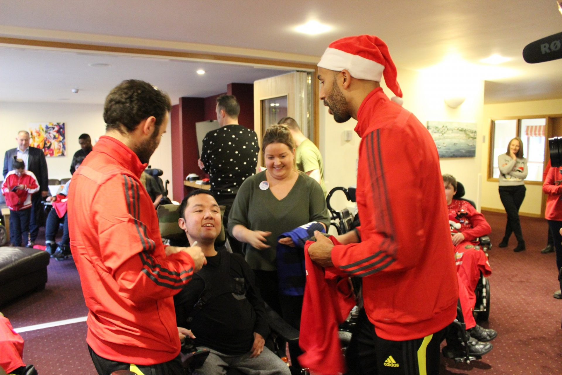 Manchester United players at Francis House