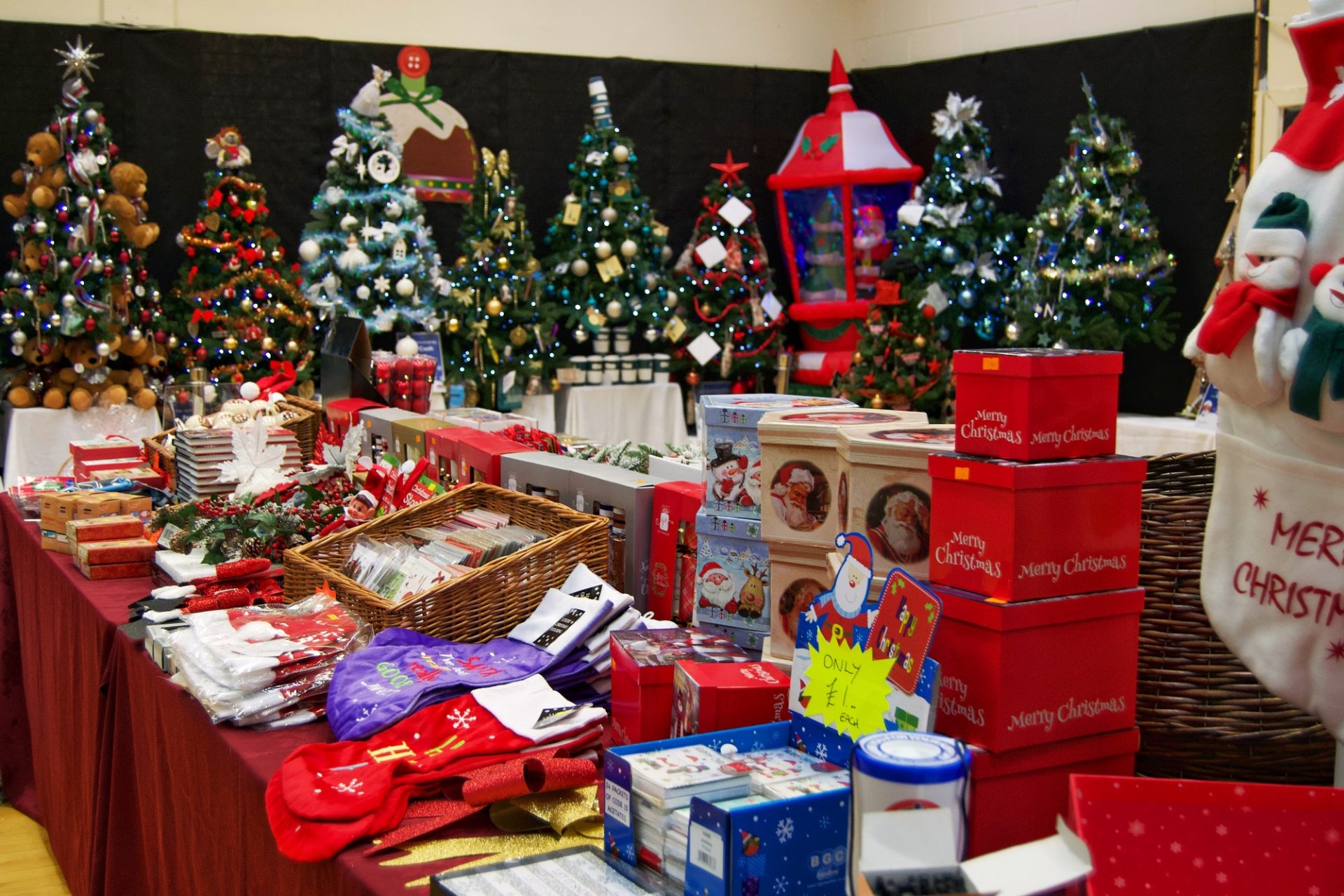 Festival of Trees and Christmas merchandise